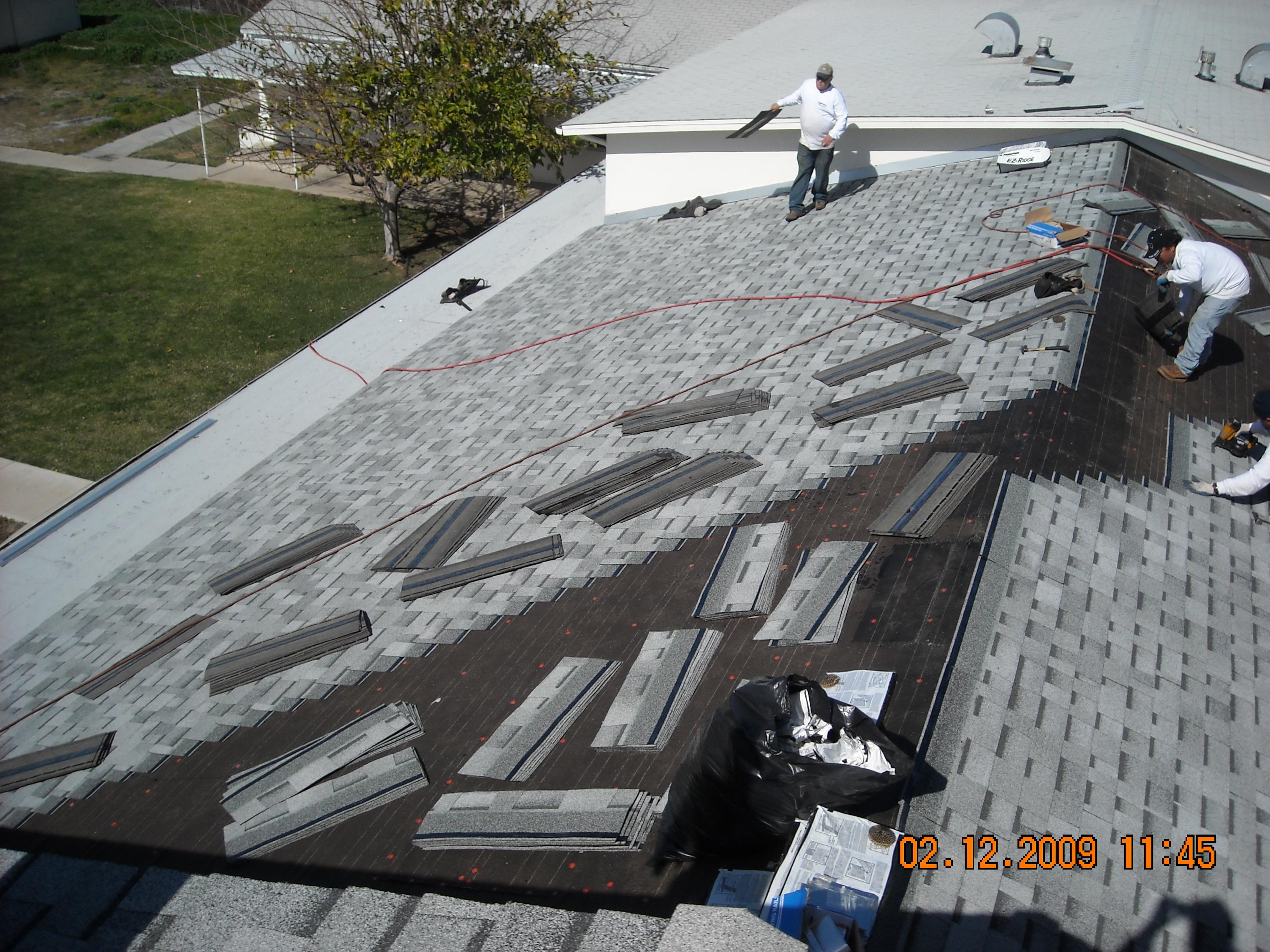 Roofing in Progress